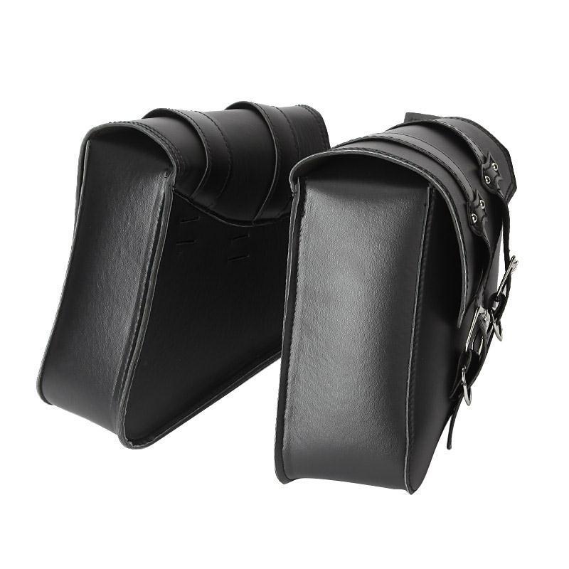 2 x PU Leather Motorcycle Saddle Side Bags Brown Black Motor Chopper Bike Tool Bag for Harley Davidson Sportster XL883 XL1200(China (Mainland))