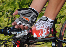 2014!New High Quality Cycling Bike Bicycle gloves Hexagon 3D GEL Shockproof Sports Half Finger Glove Size M-XL Free Shipping