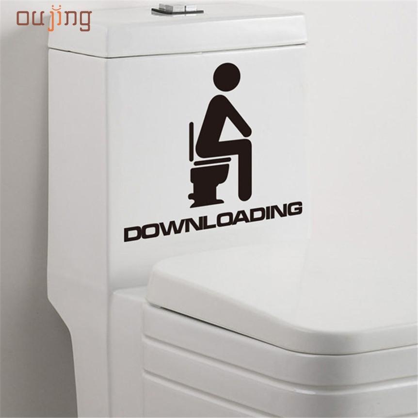 Wall Sticker Oujing Beautiful Removable Man Woman Bathroom WC DIY Family Decor High Quality Jul5