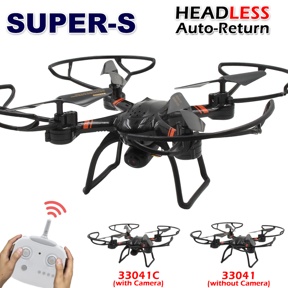 SUPER-S RC Drone 33041C with HD Camera Professional 2.4G Remote Control Quadcopter Toy Helicopter Dron / 33041 without Camera(China (Mainland))