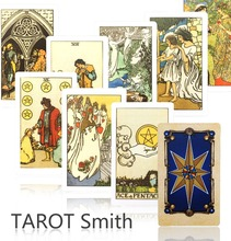 2016 new tarot cards factory made high quality smith tarot with colorful box, cards game, board game(China (Mainland))