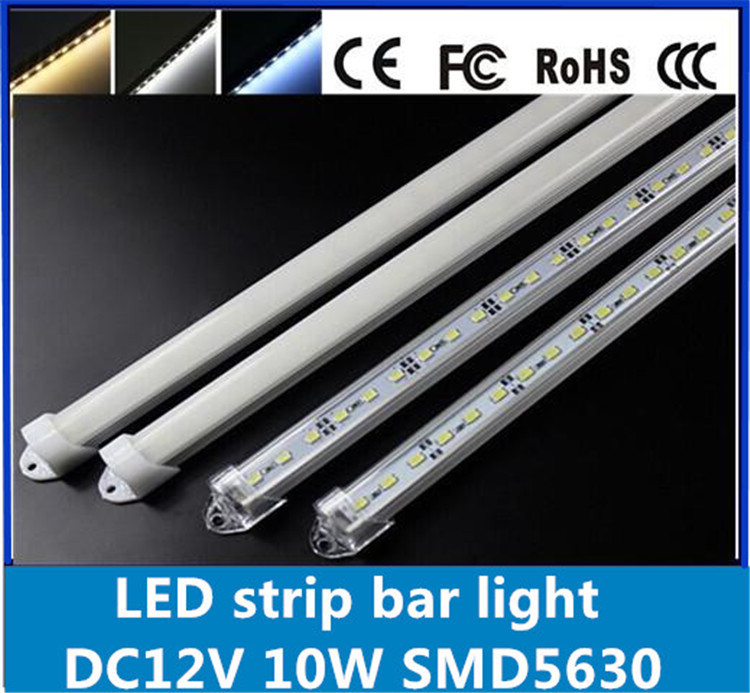 6pcs*50cm Factory Wholesale 50CM DC 12V 10W 36 SMD5630 LED Hard Rigid LED Strip Bar Light with U Aluminium shell +pc cover(China (Mainland))