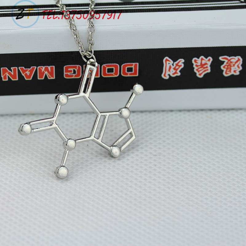 1pc choline Molecular Necklace Molecule Science Chemical Jewelry Eternal Memory Necklace Birthday Gift(China (Mainland))
