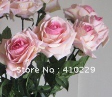 Free Shipping 7 Colors Silk Rose, Flower, Wedding & Home Decoration 10pcs/Lot