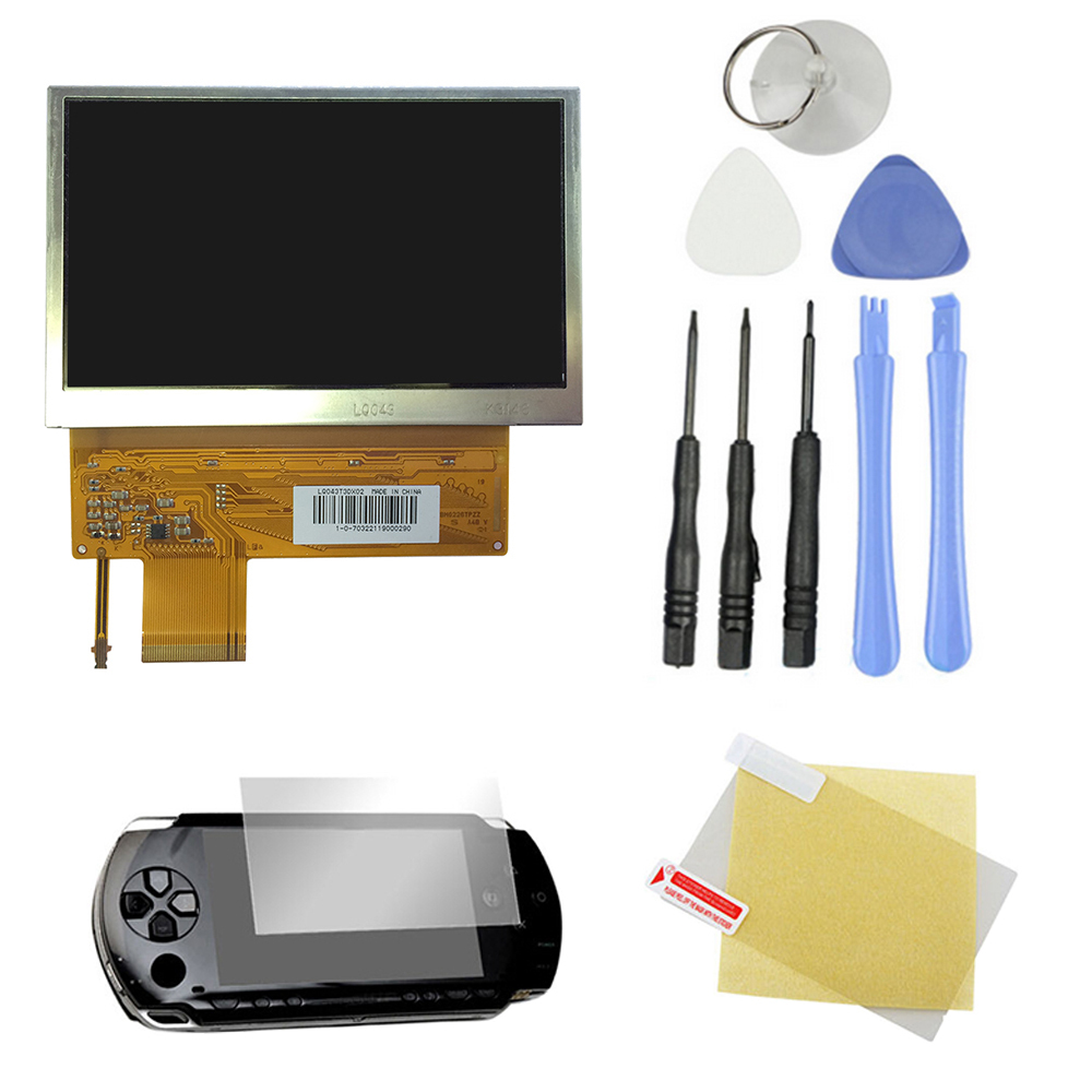 Гаджет  Free Shipping New Original LCD Display Screen Backlight Replacement Part For SONY PSP 1000 1001+ 8 Tools With protection film None Электронные компоненты и материалы