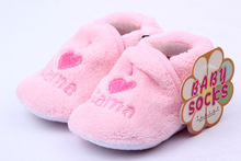 Free shipping Baby Girl Boy Unisex Coral Fleece Booties Shoes Slippers Newborn Toddler 0-12MNew Arrival