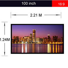 Portable 16:9 120inch Projector Screen 9x16 Finished Edge White Curtain Simple Screen Projection Screen(China (Mainland))