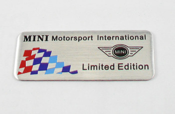 Auto car Aluminum MINI for Cooper S Paceman Rear trunk Emblem Badge Sticker
