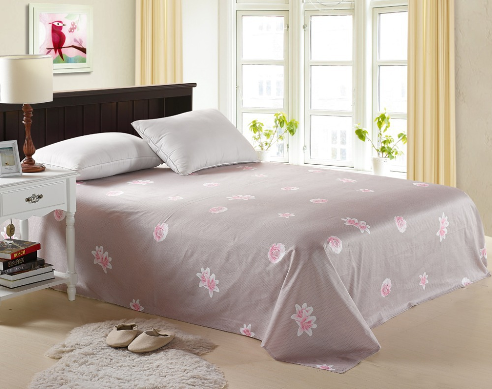 High Quality 100% Egyptian Cotton Bed Sheets Solid Right Angle/Rounded Flat Sheet Single Sabanas Full/Queen/King Size(China (Mainland))