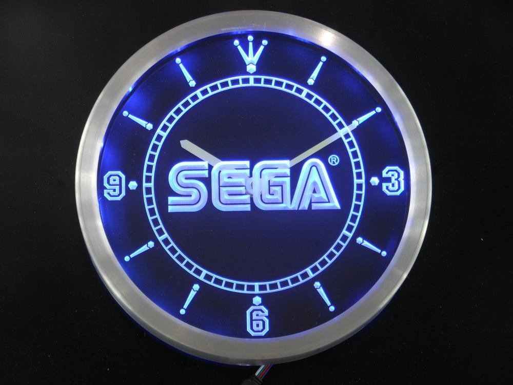nc0205 Sega Neon Sign LED Wall Clock Wholesale Dropshipping