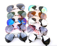 Hot Sale Retail/Wholesale  MIRROR AVIATOR MIRRORED SUNGLASSES SHADES FASHION SUNGLASSES 18 Colors Free shipping