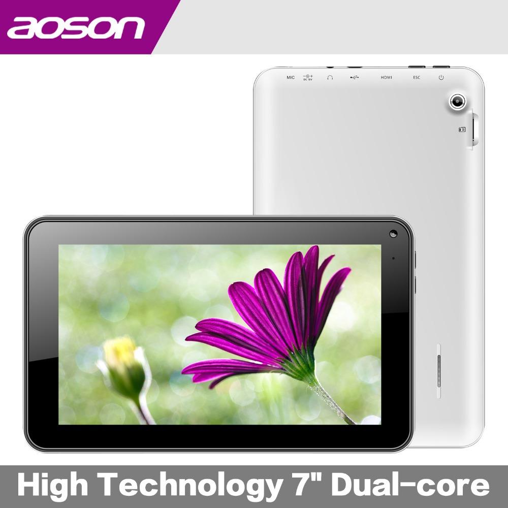 Aoson M721 7'' tablet pc Dual Core Allwinner A23 Cortex A8 android 4.4 2600mah 8GB dual camera wifi OTG External 3G tablet(China (Mainland))