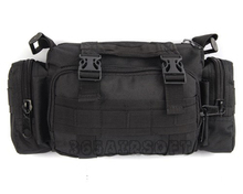 Outdoor sports Utility Molle City Special Multifunctional Tactical 3P Waist Pack Shoulder Bag Black Cool