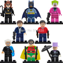 DC Super Heroes Minifigures Batman/Catwoman/Joker/Penguin 8pcs/lot Building Blocks Set Models Figures Bricks Toys