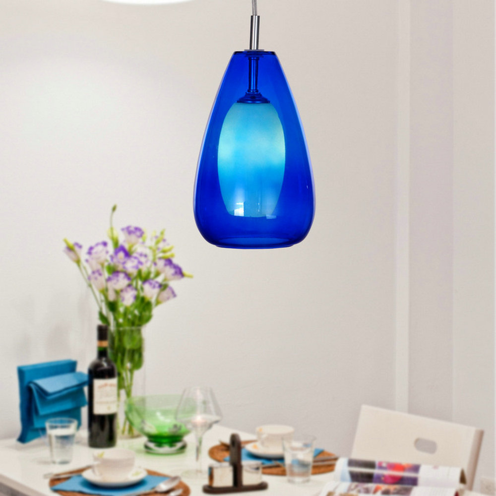 Buy free shipping 110 240v indoor modern - Colored glass pendant lights ...