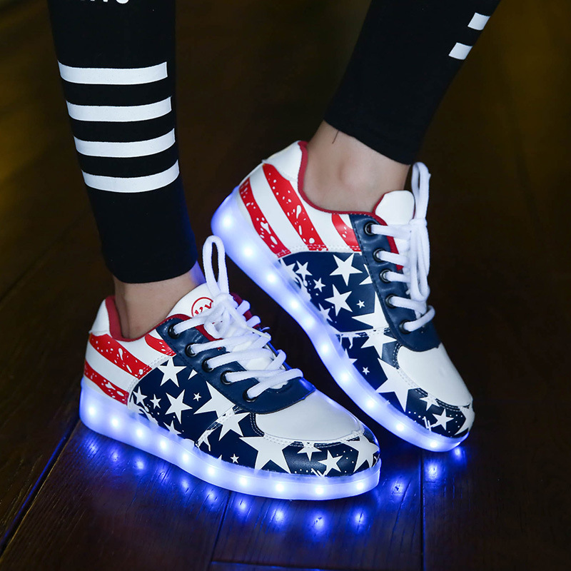 Men Shoes Led light Up Shoes For Men Led Shoes For Adults Chaussure Lumineuse Lace Up Basket Led  Winter Shoes For Men