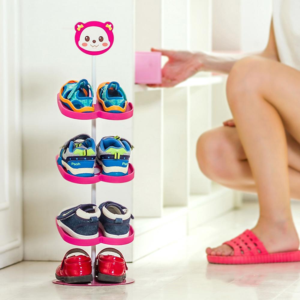 yazi New Lovely Cartoon Animal Kid's Shoe Rack Holder Convenient Children Shoes Organizer Stand Shelf(China (Mainland))