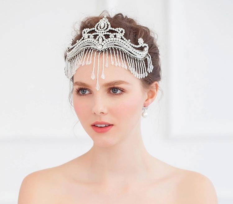 Crystal Tassel Wedding Tiara Crown Rhinestone Headpiece Headwear Bridal Hair Accessorie Frontlet Head Jewelry WIGO0373<br><br>Aliexpress