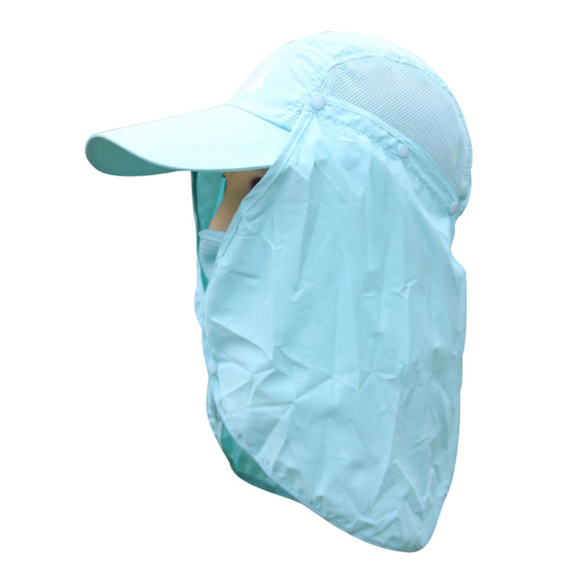 Newly Design Camping Hiking Fishing Outdoor Big Wide Brim Face Mask Cover Neck Cover Flap Sun Hat Beanie May7 ZQ(China (Mainland))