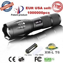 USA E17 XM-L T6 3800LM Tactical cree led Torch Zoomable cree LED Flashlight Torch light for AAA or 1xRechargeable 18650 battery(China (Mainland))