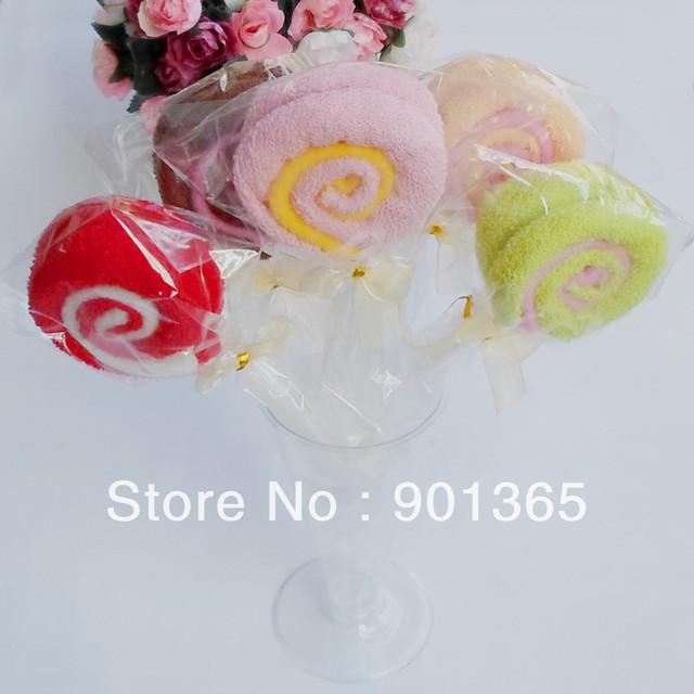 small lollipop cake towel  Favors Wedding Cotton Cake Towel