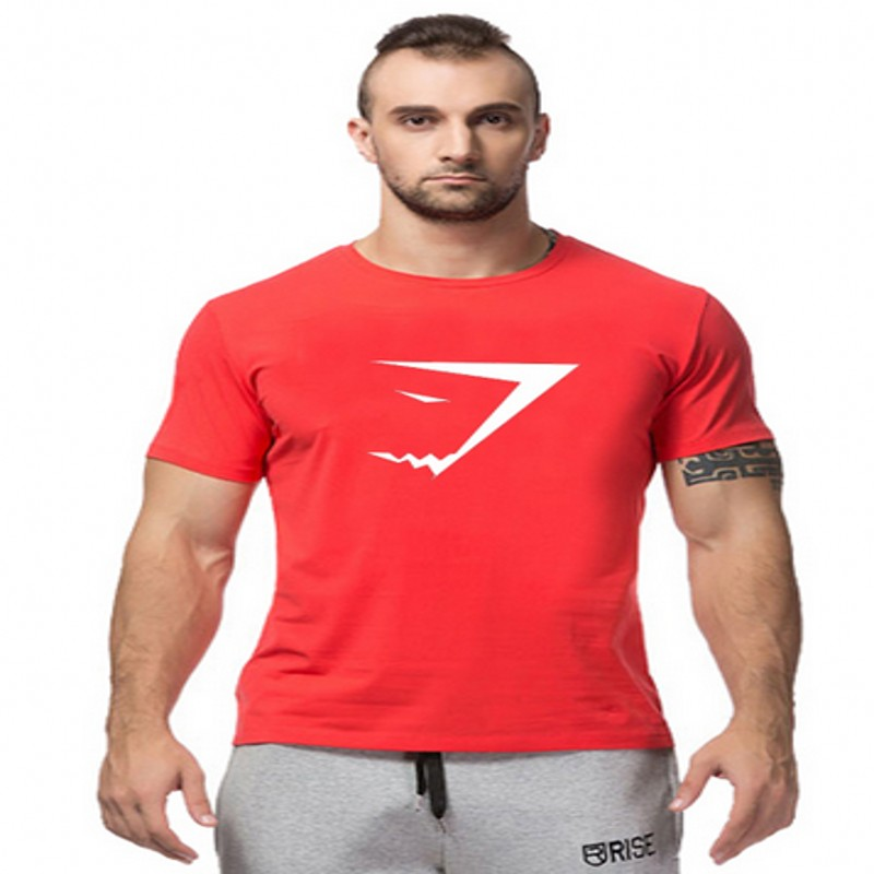 Fitness 2015 fashion cotton gasp gym t shirts men short for Dress shirts for bodybuilders