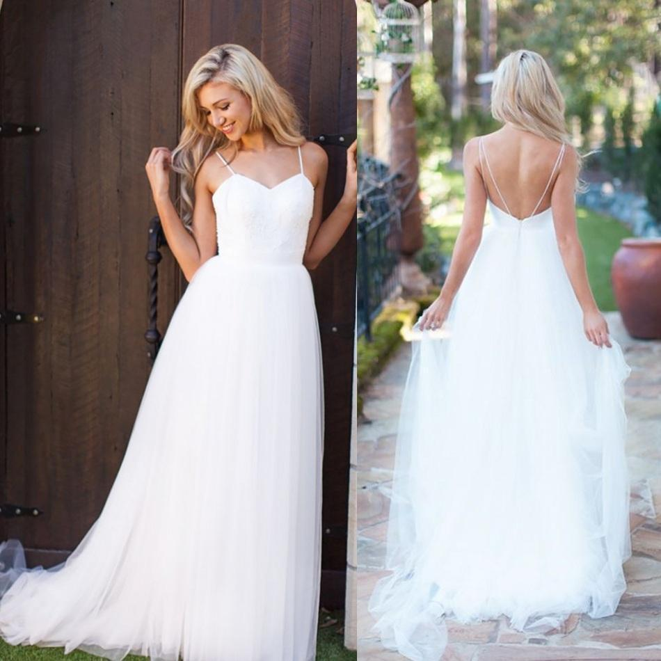 Simple Wedding Dress Boutique : Aliexpress buy simple boho beach wedding dress