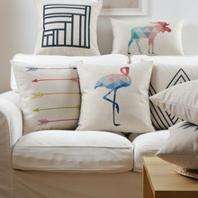 Nordic abstract lines and geometric linen pillow cushions