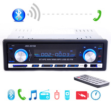 2015 New 12V Car Stereo FM Radio MP3 Audio Player Support Bluetooth Phone with USB/SD MMC Port Car Electronics In-Dash 1 DIN(China (Mainland))