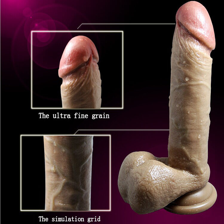 Realistic penis cyberskin super huge big dildo ( 205*40mm) with suction cup sex products for women dildo realistic rubber penis(China (Mainland))