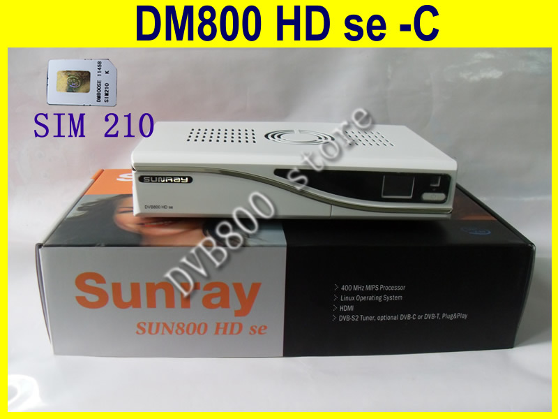 white color digital TV sunray 800SE-C DM receiver 800HD se-c cable tuner(China (Mainland))
