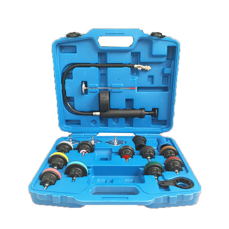 Фотография 18pc Radiator Pump Pressure Leak Tester Water Tank Detector Kit Aluminum Adapter