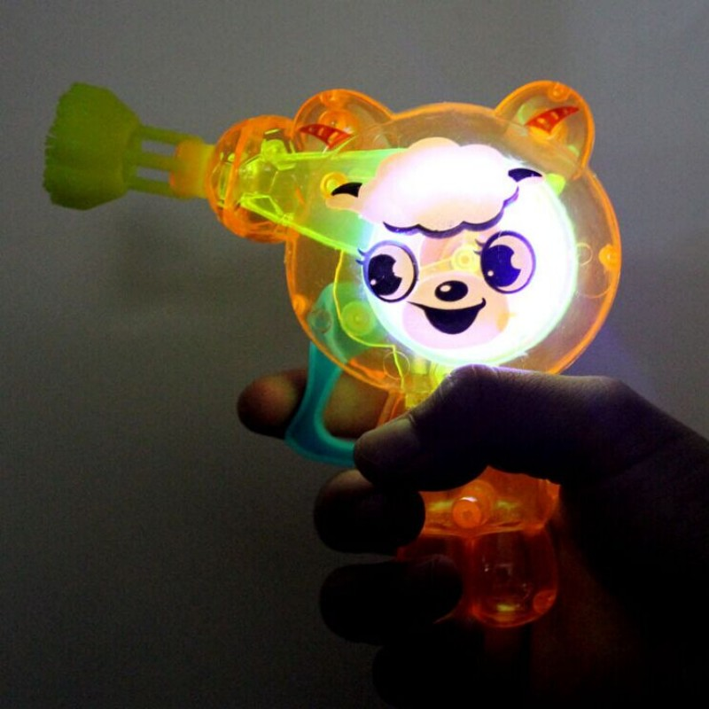 lovely tiger led shining Bubble Gun baby toy water gun kids gift Outdoor Toy(China (Mainland))