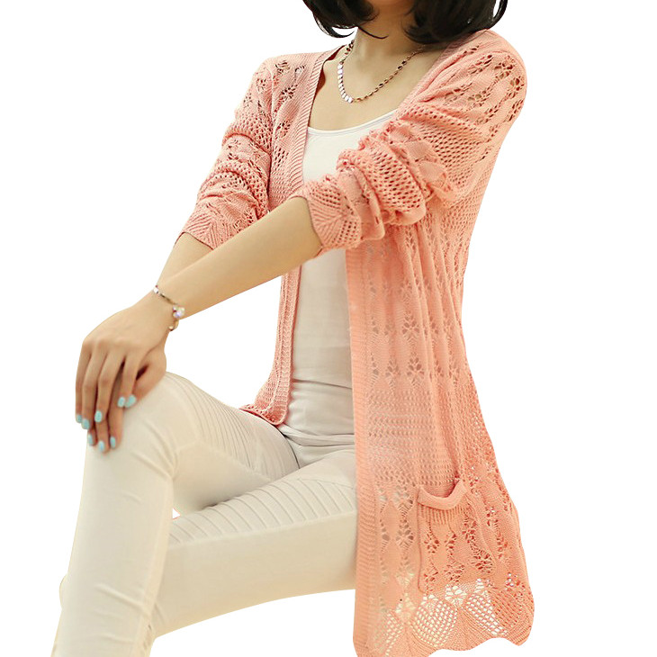 2015, Japan South Korea women sweater long-sleeved cardigan thin spring autumn - clothes word store