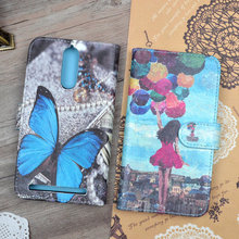 """Buy Case Lenovo K5 Note, A7020 5.5""""cover Cartoon Painting PU Leather Wallet Stand Card Phone Bag K5 Note (K52t38/K52e78) for $4.70 in AliExpress store"""