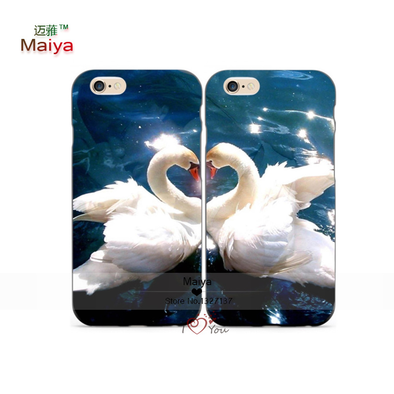 2pcs Lots Love Swan Animal Desgin Pair Lover Phone Cases For font b Iphone6 b font
