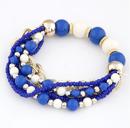 New Hot fashion trend jewelry wholesale cube beads multi-dimensional colorful elastic chain & link bracelets(China (Mainland))