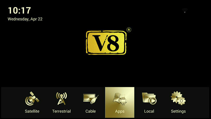 Android OTT BOX V8 Angel Satellite TV Receiver support DVB S2 T2 Cable Kodi Broswer cccam Newcam  IPTV with WIFI