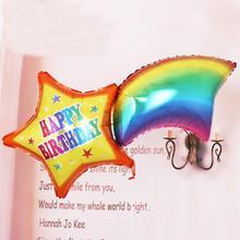 1 шт. Большой Размер Радуги Гелиевые Шары С Днем Рождения Фольга Баллон День Рождения Украшения Дети Ballon Игрушки