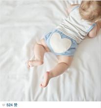2015 Autumn Winter Heart Pattern Cotton PP Pants Boys girls Warm Baby Panties(China (Mainland))