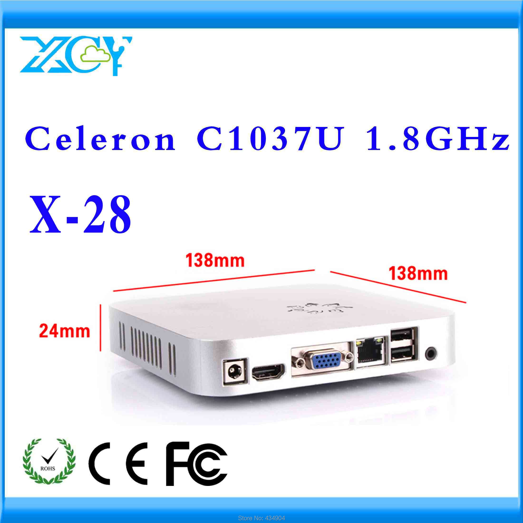 media server desktop mini pc mini intel pc X-28 c1037u 2g ram 128g ssd very small but powerfull PC support hd video(China (Mainland))