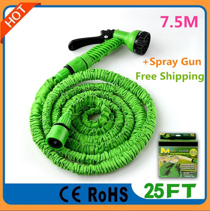 Best magic hose 25 ft 7 5m flexible garden water hoses for Best flexible garden hose