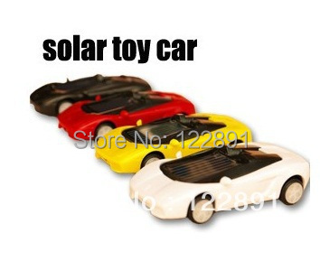 Hot Sale Educational Solar toys Smallest Mini Solar Powered Robot Racing Car Toy Mini Solar Racing Car Very Funy Free shipping(China (Mainland))