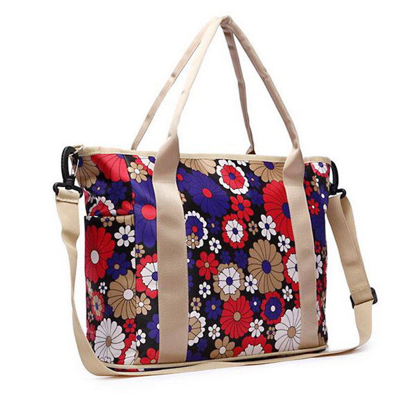 Modern Uk Flag Flower Printing Fashion Waterproof Mummy Women Shoulder Bag Tote Outdoor Travel Bags  5 Colors To choose 33(China (Mainland))