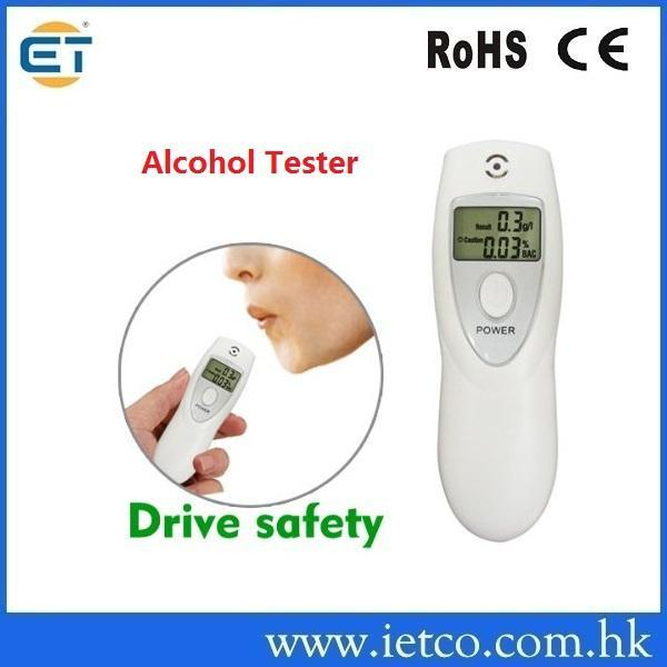 Portable Prefessional Police Breath Alcohol Analyzer Digital Breathalyzer Tester Body Alcoholicity Drive safety(China (Mainland))