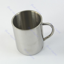 Free Shipping 450ml Stainless Steel Coffee Mug Tumbler Camping Mug Double-deck Bilayer Cup