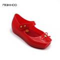 Mini Melissa 2017 Ballet Shoes Melissa Girls Jelly Shoes Bow Ballet Shoes Soft Comfort 3 Color