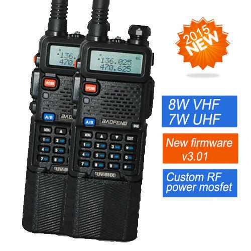 2 PCS Baofeng handy walkie talkie UV-8HX,1w/4w/8w VHF/UHF dual Band CB two-way Radio,sister yaesu vx-6r puxing px-2r uvb2(China (Mainland))