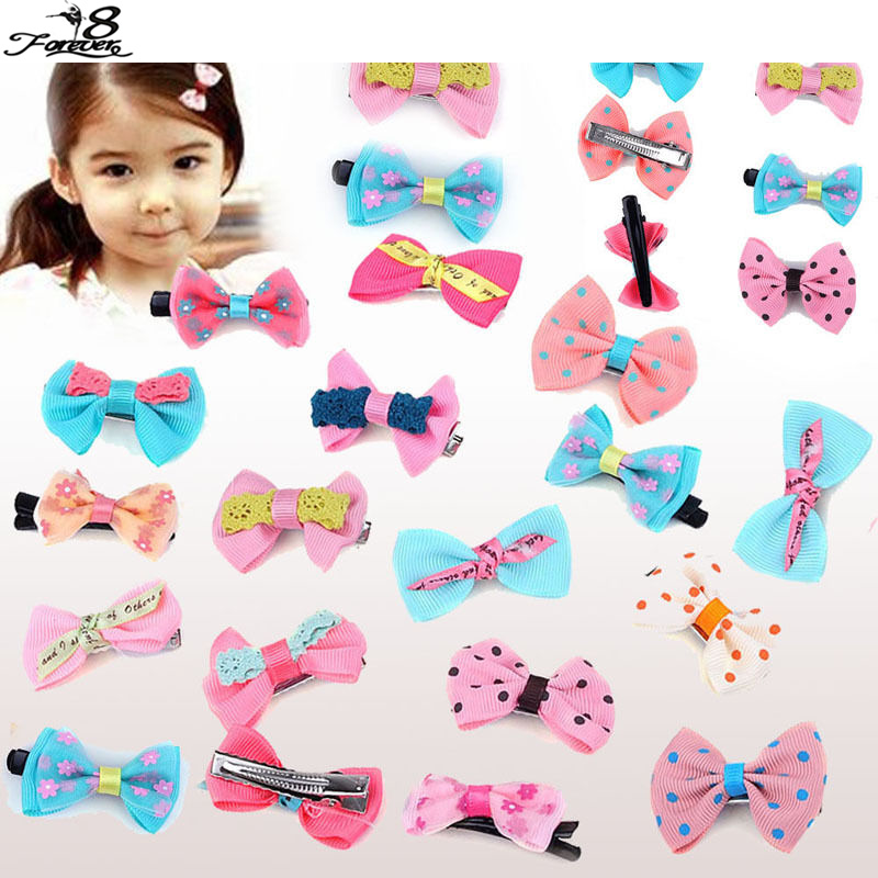12 pcs Cute Colorful bownot size 4.5*2cm Baby Hair Band Girls Gift kids baby Hair Clip Hair Accessories(China (Mainland))