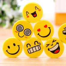 4 Pcs/lot Smile Face Erasers Rubber For Pencil Kid Funny Cute Stationery Novelty Eraser Office Accessories School Supplies